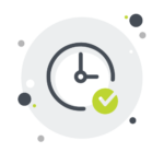 clock with checkmark icon